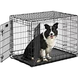 Midwest Ultima Pro (Professional Series & Most Durable Dog Crate) | Extra-Strong Double Door Folding Metal Dog Crate w/Divider Panel, Floor Protecting Roller Feet & Leak-Proof Plastic Pan