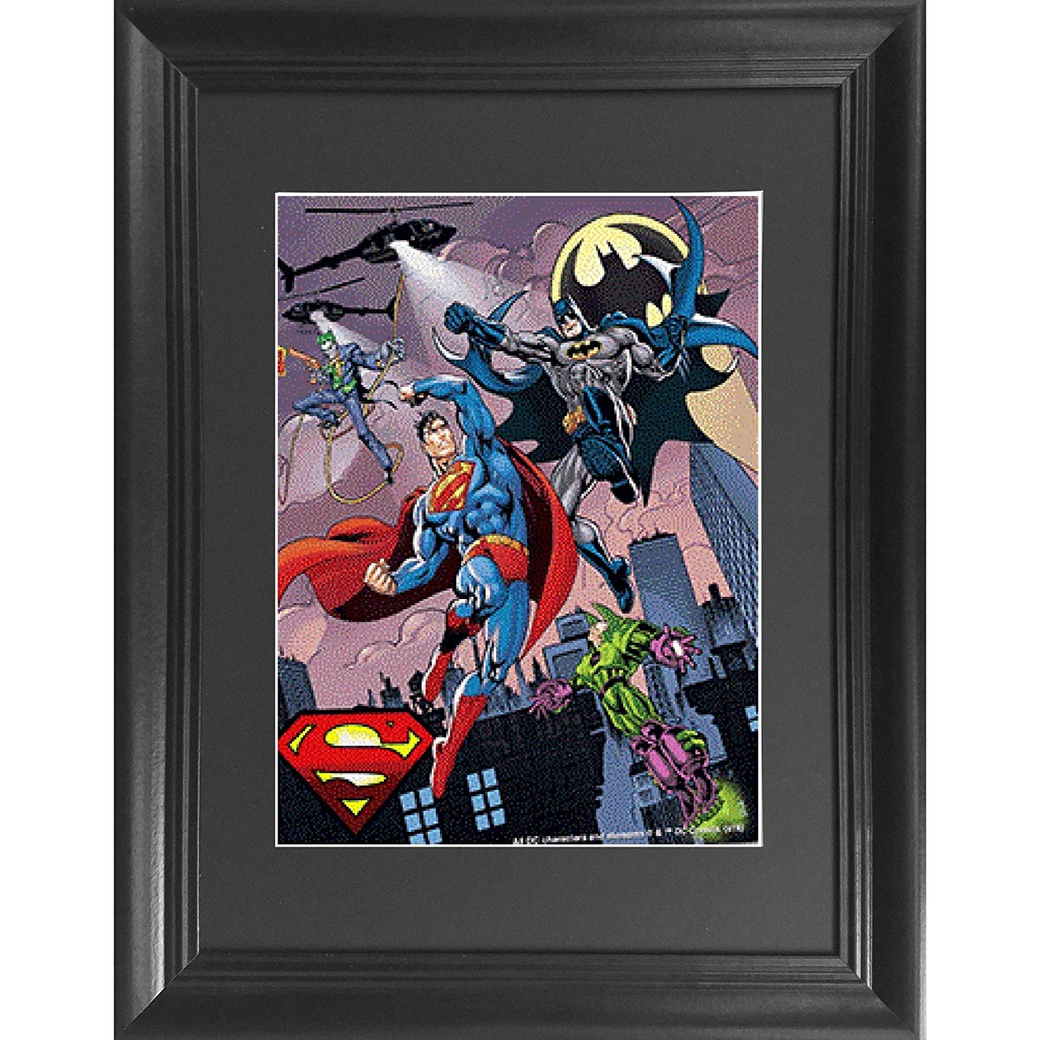Batman vs Superman 3D Poster Wall Art Decor Framed Print | 14.5x18.5 | Lenticular Posters & Pictures | Memorabilia Gifts for Guys & Girls Bedroom | DC Comic Book Classic Superhero Movie Fan Picture