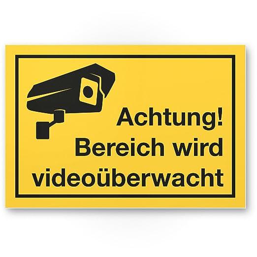 Rango de vídeo mediante wacht Cartel (Amarillo, 30 x 20 cm ...