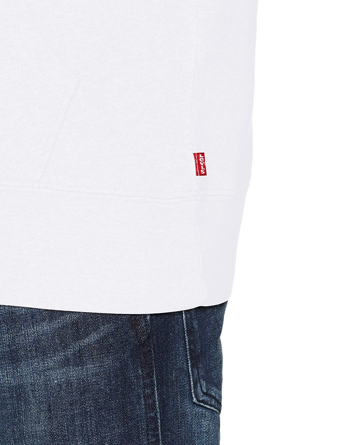 Levi's Graphic Po Hoodie-B, Sweat-Shirt à Capuche Homme Blanc (Sportswear Pull Over White 0025)