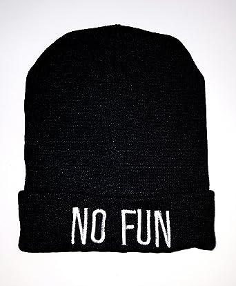 MazClothing No Fun Beanie Hat  Amazon.co.uk  Clothing 35345b42cb6