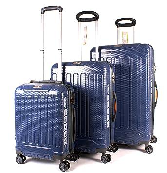 5f71465f11 Dark Blue Jeep Plateau High-Quality Water Resistant 4 Wheeled Luggage Set  of 3: Amazon.co.uk: Luggage