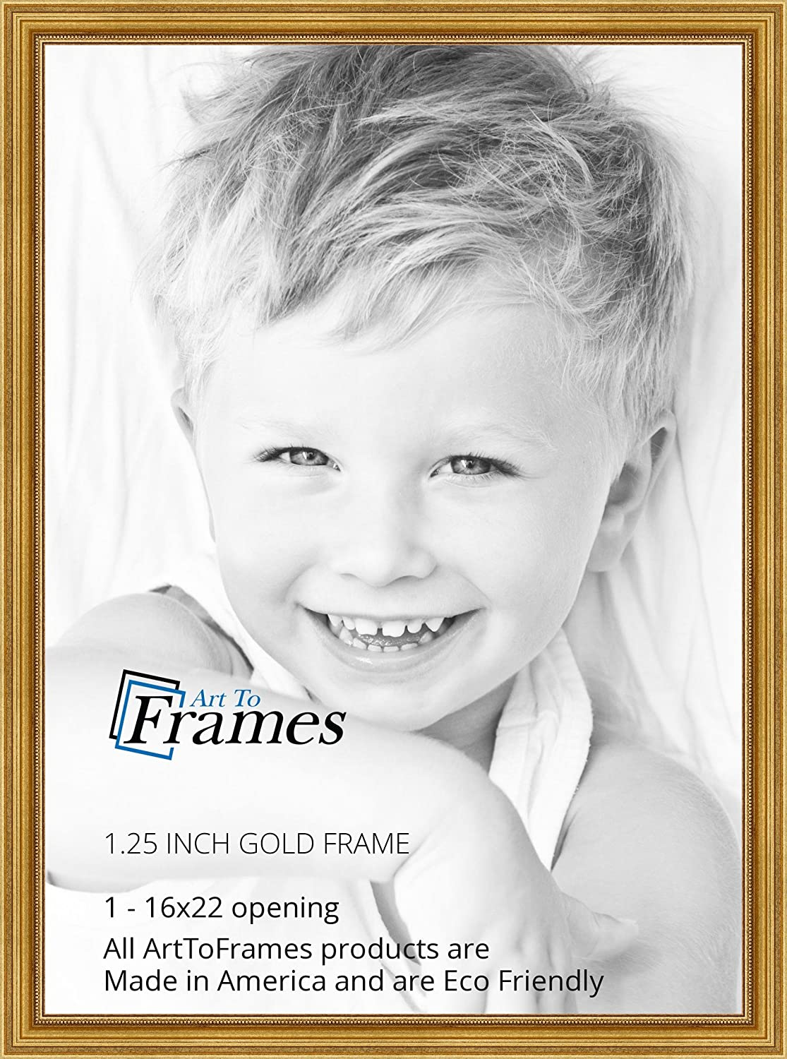 Amazon.com - ArtToFrames 16x22 inch Gold Foil on Pine Wood Picture ...