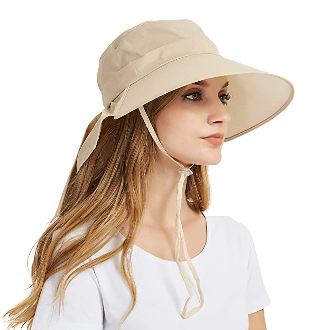 36434dd6370 Image Unavailable. Image not available for. Color  Women s Wide Brim Sun Hat  ...
