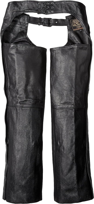 Milwaukee Patch Pocket Leather Chaps Black, XXX-Small