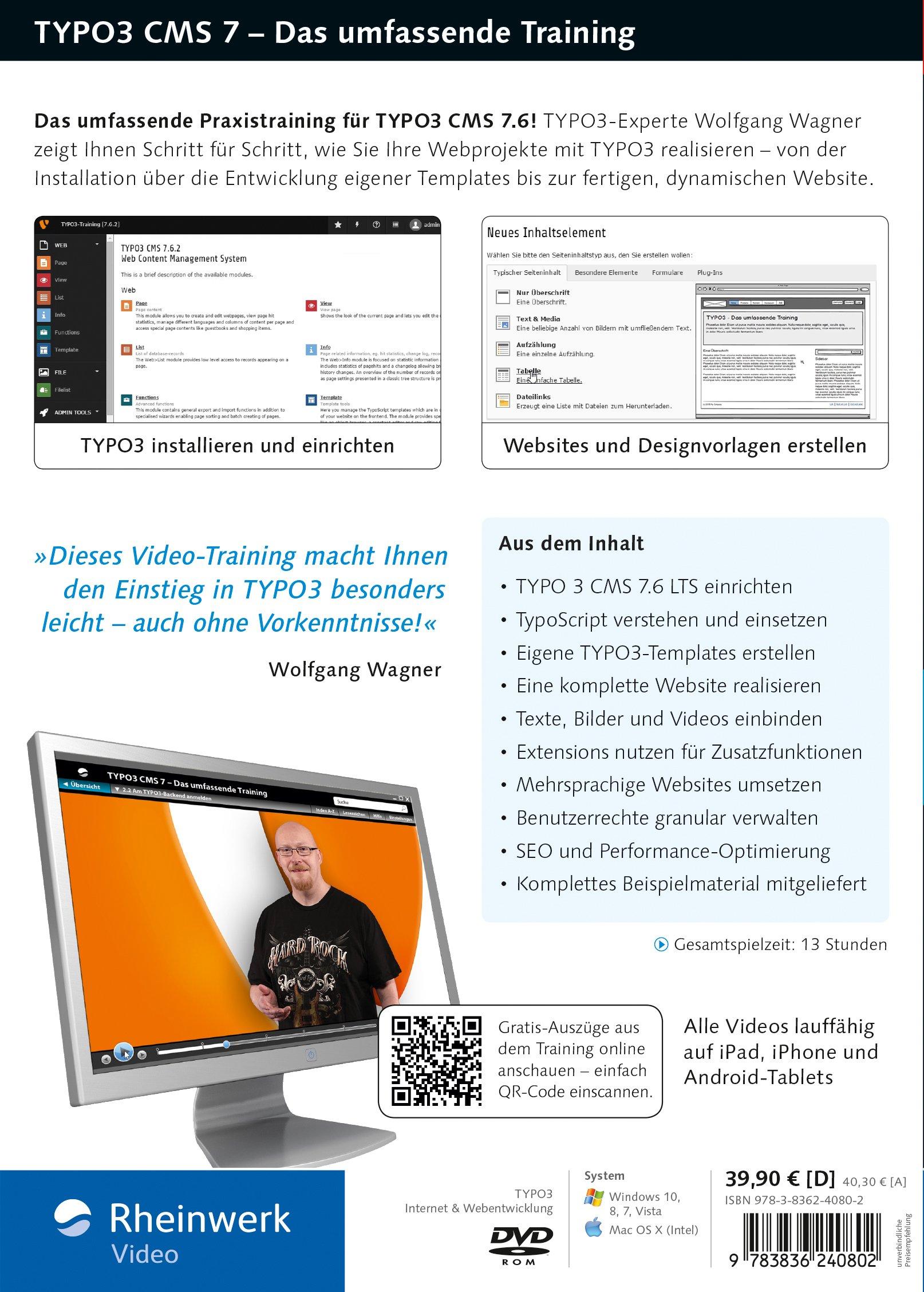 TYPO3 CMS 7 - Das Training für Webentwickler, Webdesigner und ...