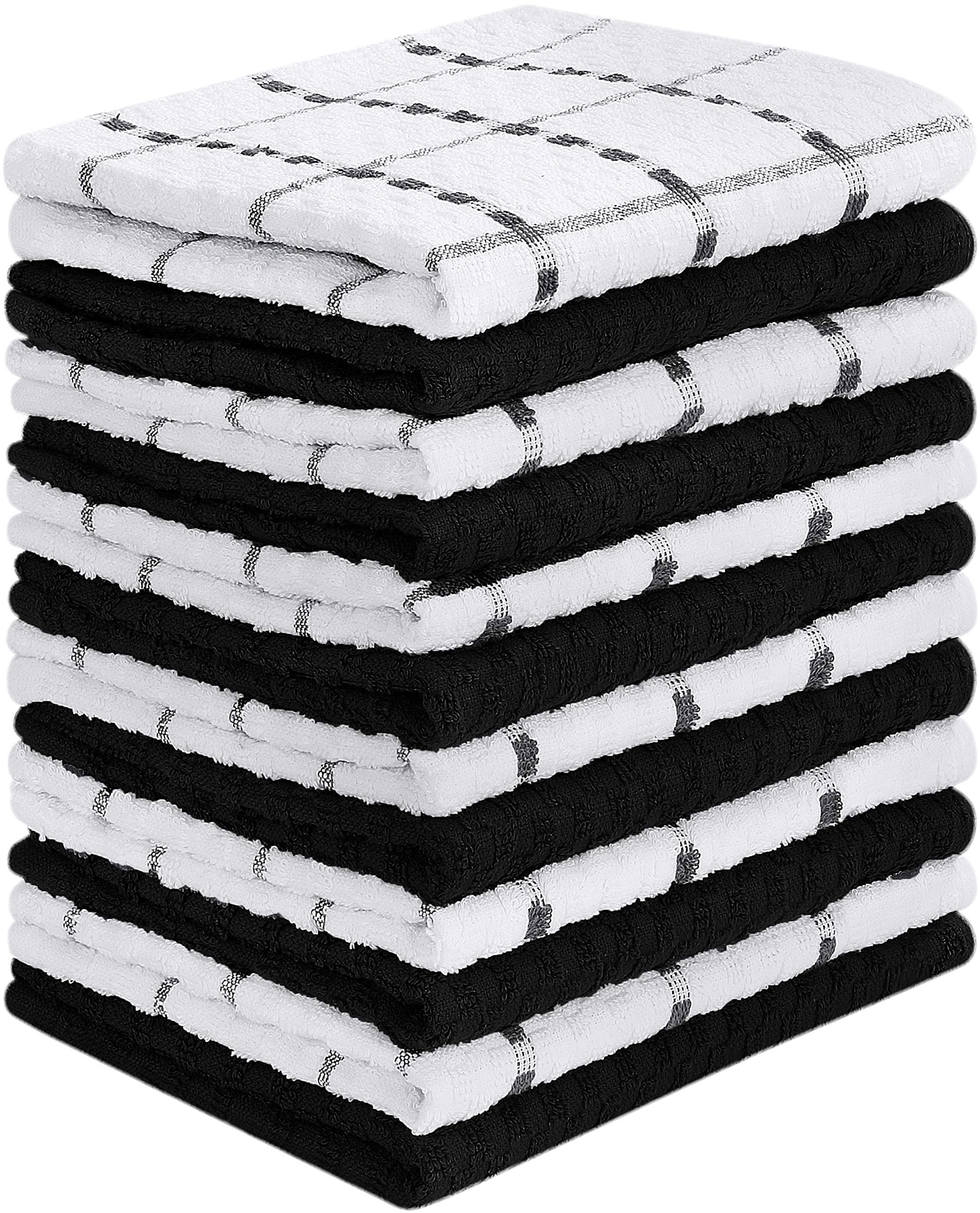 Utopia Towels 12 Pack Kitchen Towels, 15 x 25 Inches Cotton Dish Towels, Tea Towels and Bar Towels by Utopia Towels