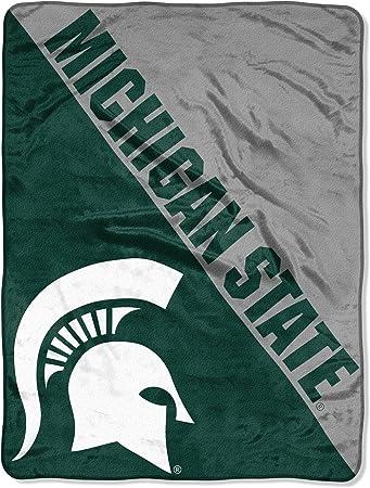 "NCAA ""Halftone"" Micro Raschel Throw Blanket"