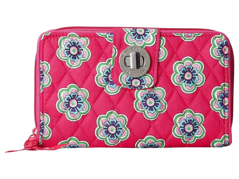 Vera BradleyレディースTurn Lock Wallet B00OH4KIYS Pink Swirls Flowers Pink Swirls Flowers