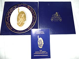 product image for 1886 - 1986 Statue of Liberty Commemorative China and 24KT Gold Plate by Pickard