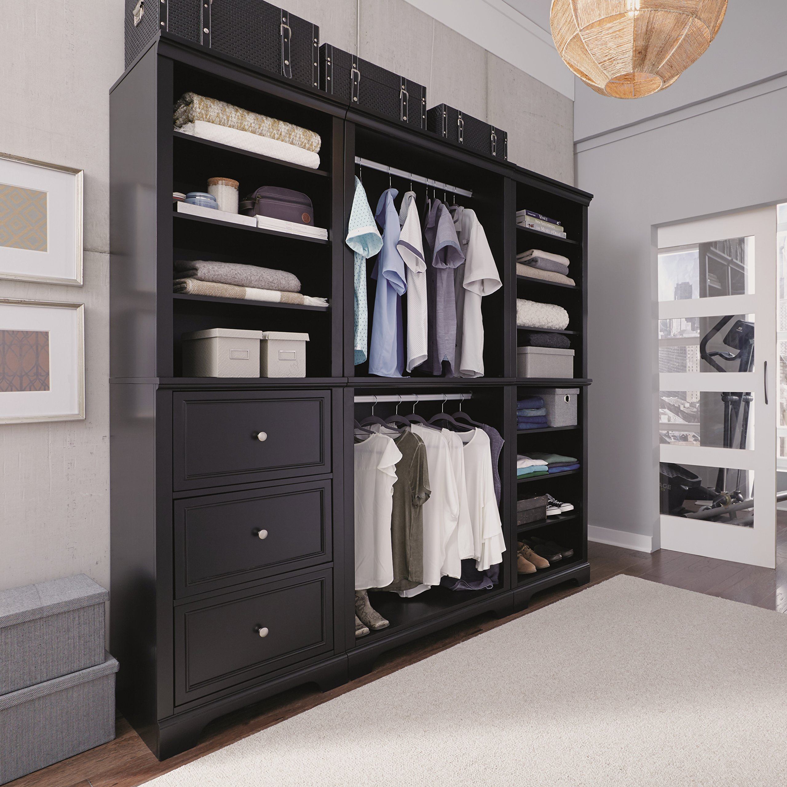 Bedford Black 3 Piece Closet/Storage System Organizer by Home Styles by Home Styles