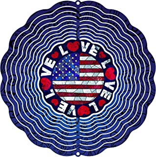 "product image for Next Innovations 101408001-LOVEUSA Wind Spinner, 10"" Diameter, Multicolor"