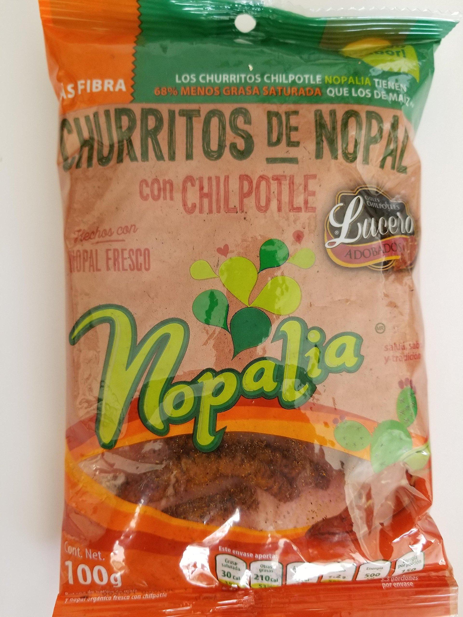 Cactus churritos with chili Chipotle - Churritos de Nopal con chipotle