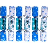 Iconikal 9-inch Christmas No-Snap Party Favor, Blue Snowflakes, 6-Pack