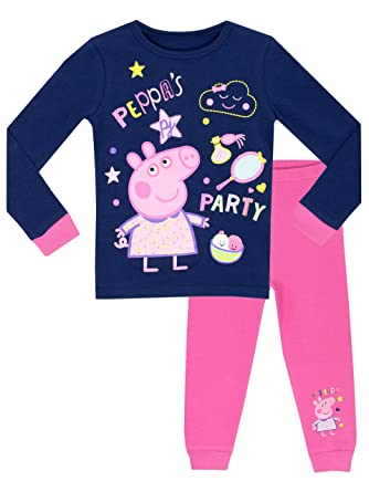 Peppa Pig Girls Peppa S Party Pyjamas Snuggle Fit Ages 18 Months To 8 Years