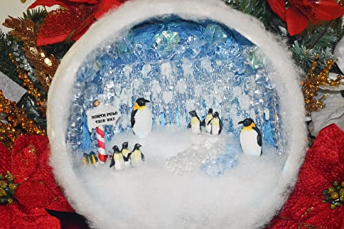 Amazon.com: Penguin Decor, Christmas Diorama, Christmas Miniature ...