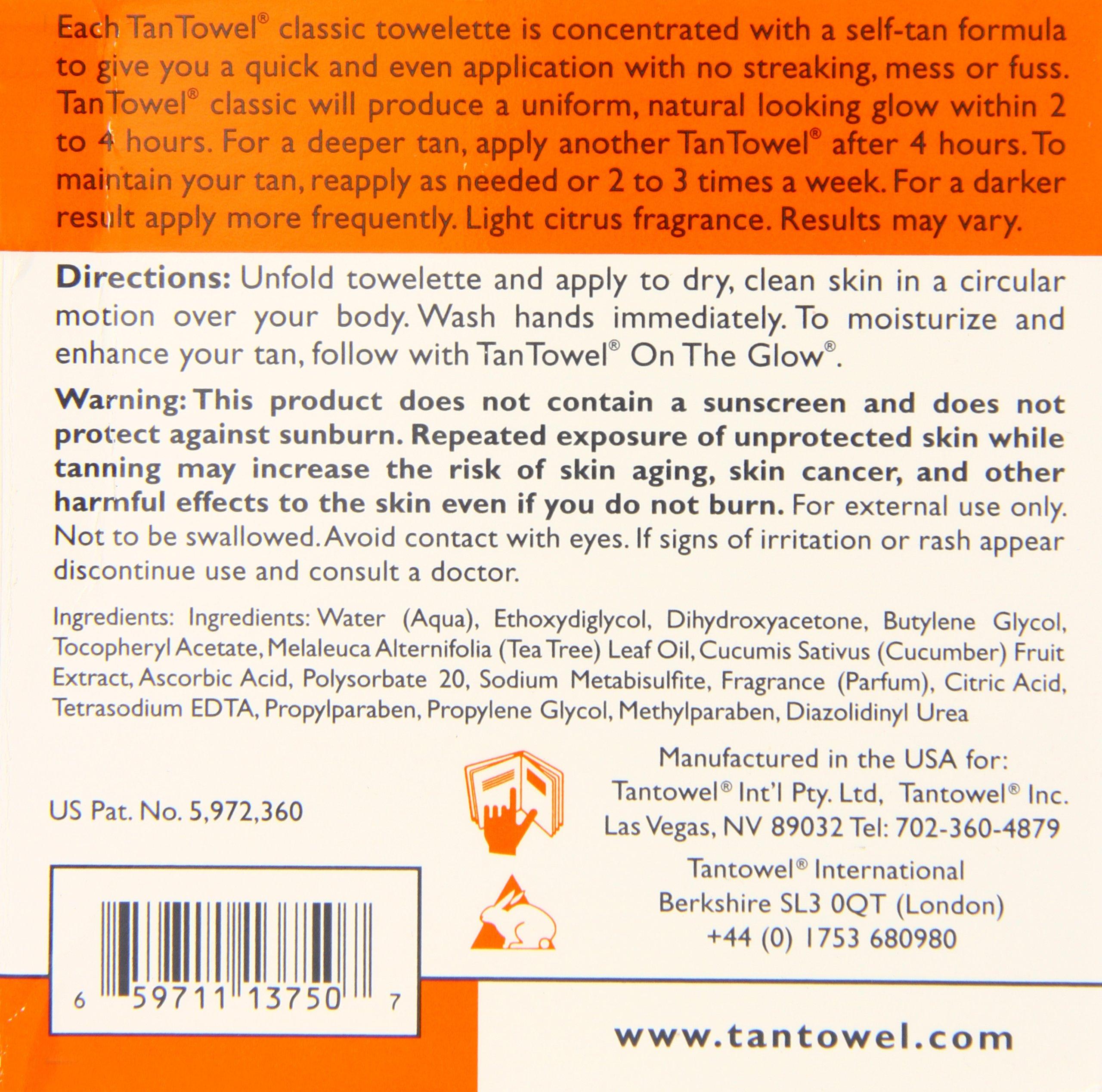 Tan Towel Self Tan Towelette Classic 15 Count by Tan Towel (Image #3)
