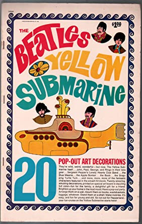 Beatles Yellow Submarine Pop Out Art Decorations 10564 1968 Sgt
