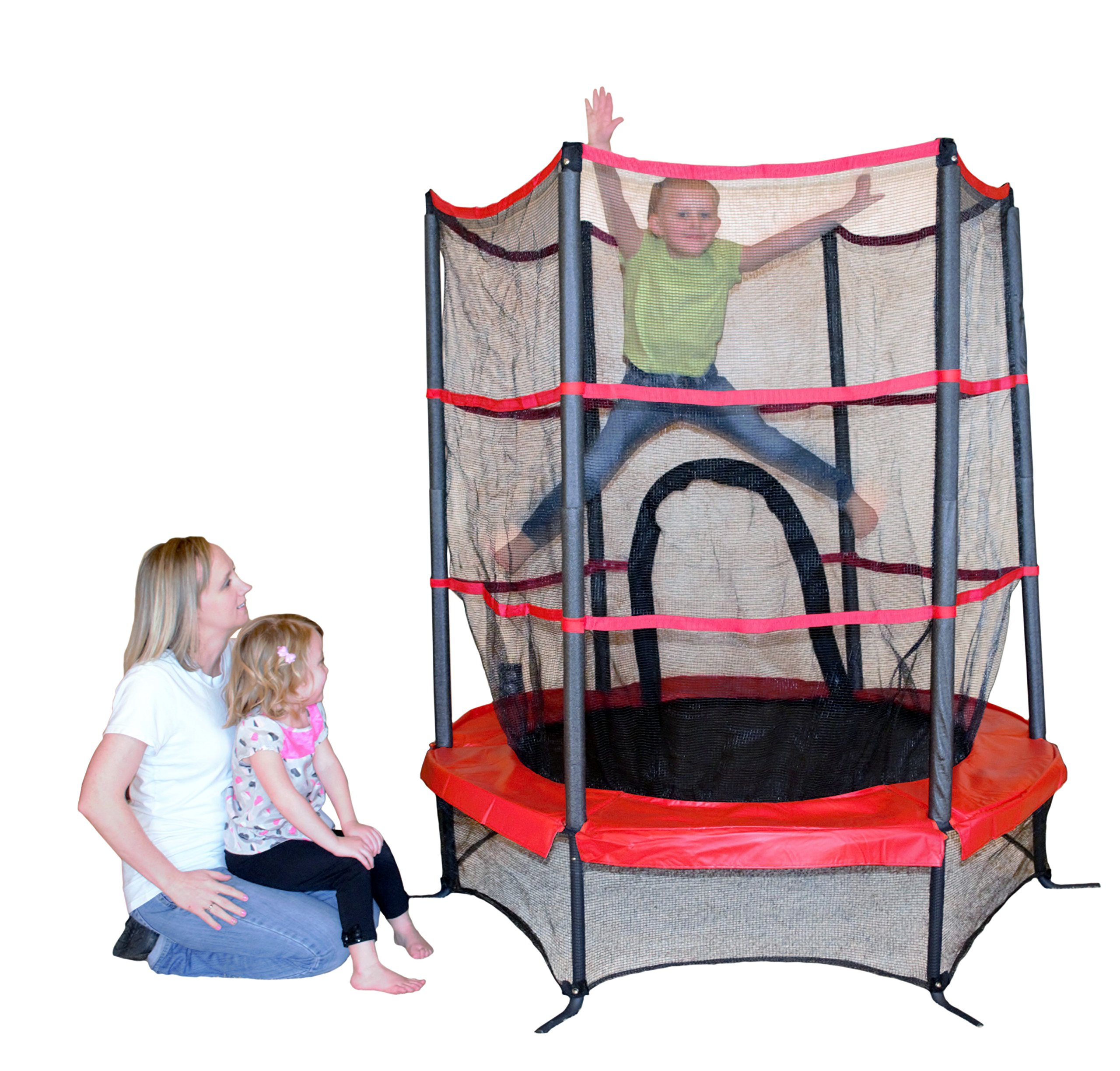 Propel Trampolines PTS55-RE Junior Trampoline with Enclosure, 55'', Red by Propel Trampolines