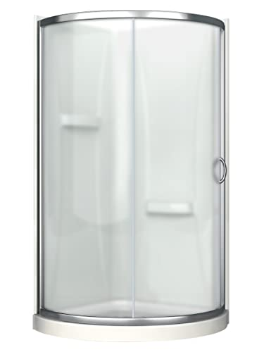 Ove Decors Breeze 31 Shower Kit Paris Glass with Walls and Base