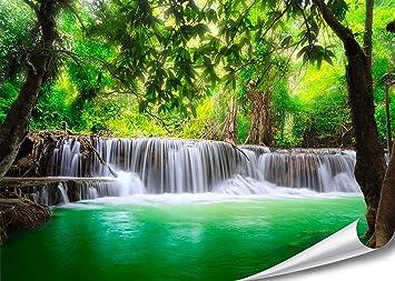 PMP 4life XXL Poster Wasserfall In Thailand Natur HD 140cm X 100cm  Hochauflösende Wand
