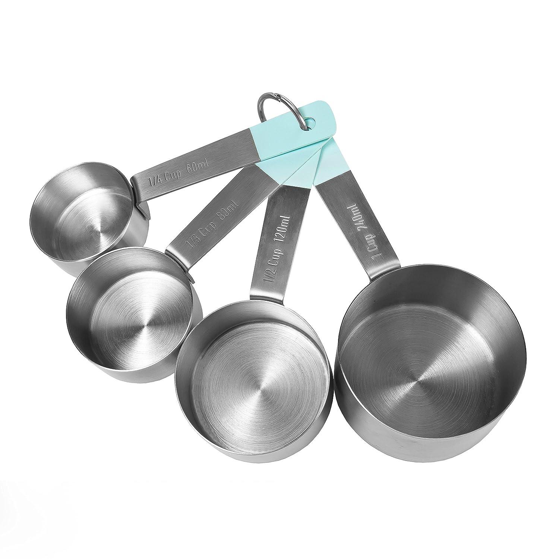 Jamie Oliver Measuring Cups Set, Stainless Steel, Teal JB3730