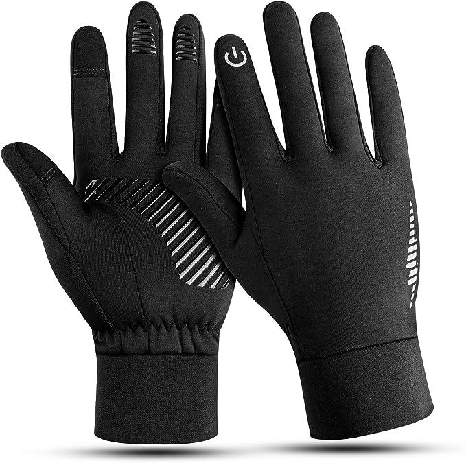 Herren Damen Touchscreen Winter Winddicht Warme Handschuhe für Radfahren Laufen