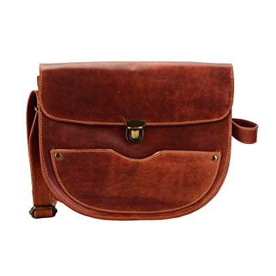 2b199d7086f2 Handmade Vintage Style Genuine Leather Crossbody Purse for Women Small  Crossover Cross Body Bag Long Over