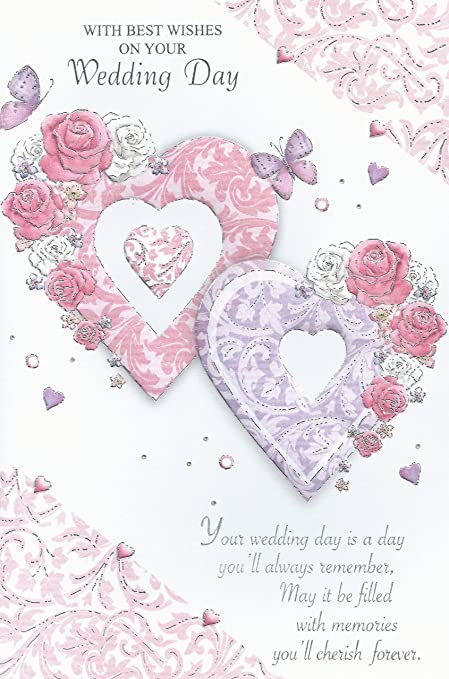 with best wishes on your wedding day card