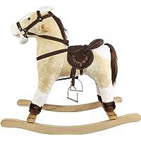 Comdaq Off White Rocking Horse, Brown