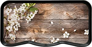 Nicoman VCD-Boot-Tray-75x38-FlowerWood-2pcs Boot Shoe Tray Rack Mat Printed Flowers and Wood(2-Pack), 2-pk