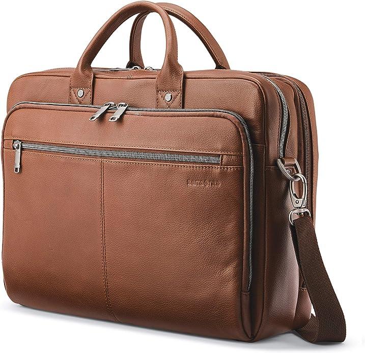Samsonite Classic Leather Toploader Briefcase   Amazon