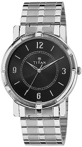 Titan Analog Black Dial Men's Watch NK1639SM03 Men's Wrist Watches