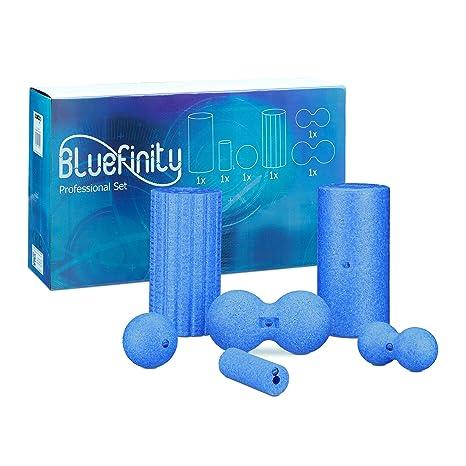 Bluefinity Kit 6 Artículos Fascial con Rodillos Masaje y Pelota ...