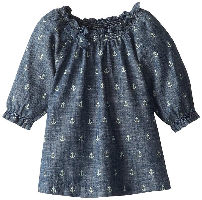 Hatley - Blusa para niña, talla 4 años, color azul (chambray)