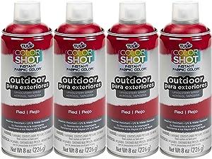 Bulk buy: Tulip ColorShot Outdoor Upholstery Spray Paint 8 oz. 4-pack, Red