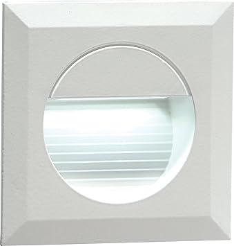 Knightsbridge ml455 – 230 V Mini empotrable IP54 Cuadrado para Interior/Exterior guía de LED/Escaleras/lámpara de Pared LED Blanco: Amazon.es: Electrónica
