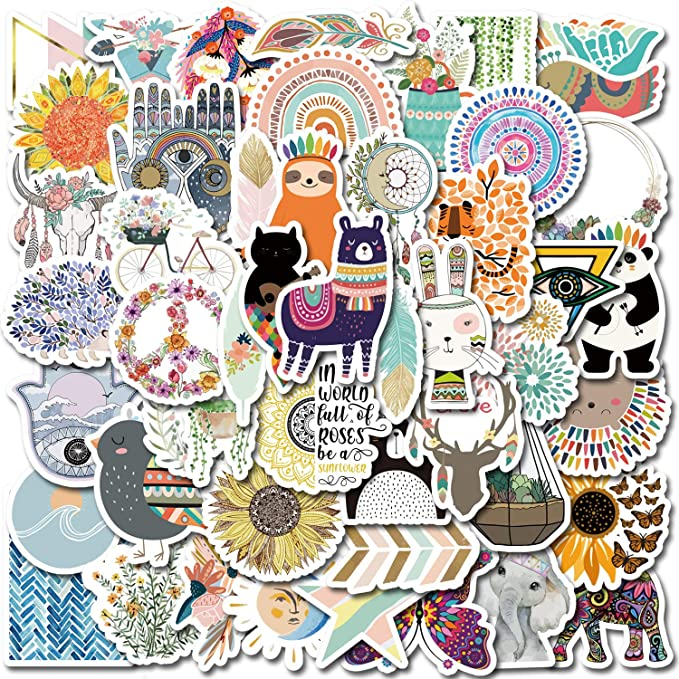 motivation, Boho Rainbow stickers Weatherproof Stickers Die-Cut Stickers do what you love water bottle stickers Laptop Stickers