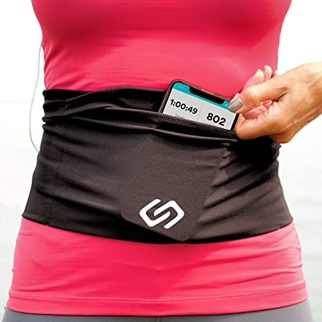 and Other Valuable Items Large Security Pockets Fit All Smartphones Sporteer VersaMax Running Belt Workout Waist Pack Passport Money Travel Belt