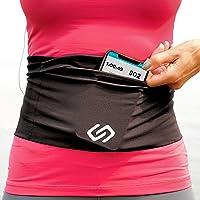 Sporteer Versaflex Running Belt, Travel Money and Passport Belt, Workout Waist Pack for Large Phones and Personal Items