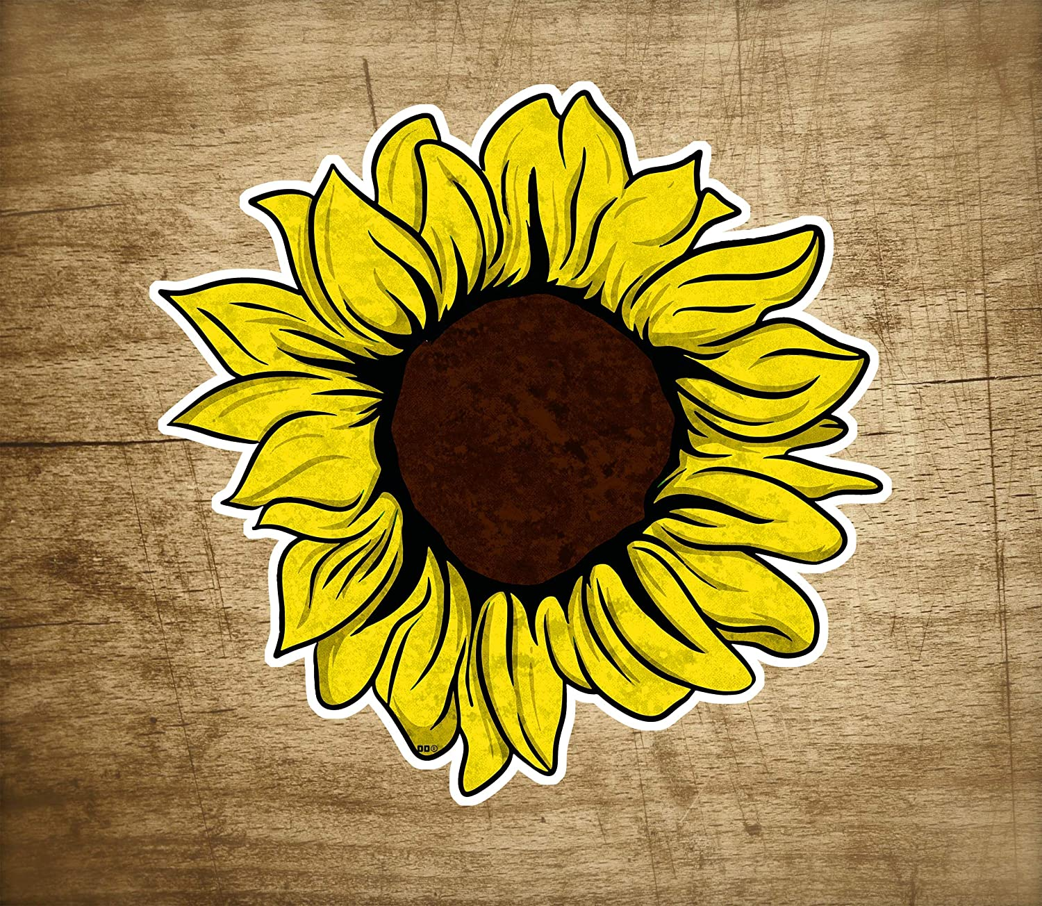 Yellow Sunflower Decal Sticker Laptop Vehicle Car Truck Window Laptop Wall