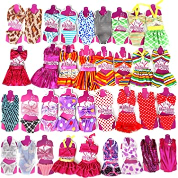 206abaff23 Rainbow Yuangou Handmade Mini Clothes Bikini Set Swimwear Swimsuit For 11.5 IN  Barbie Doll Pack of 5