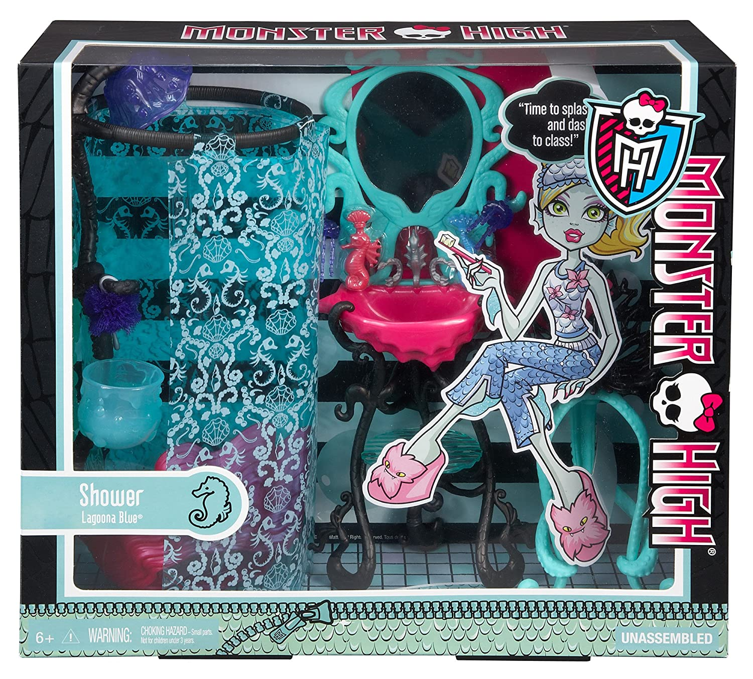 Amazon Monster High Lagoona Blue Shower Playset Toys & Games