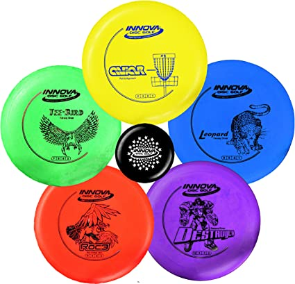 Innova Disc Golf Starter Set – Colors May Vary 160-180g – DX Putter, Mid-Range, Driver best disc golf set