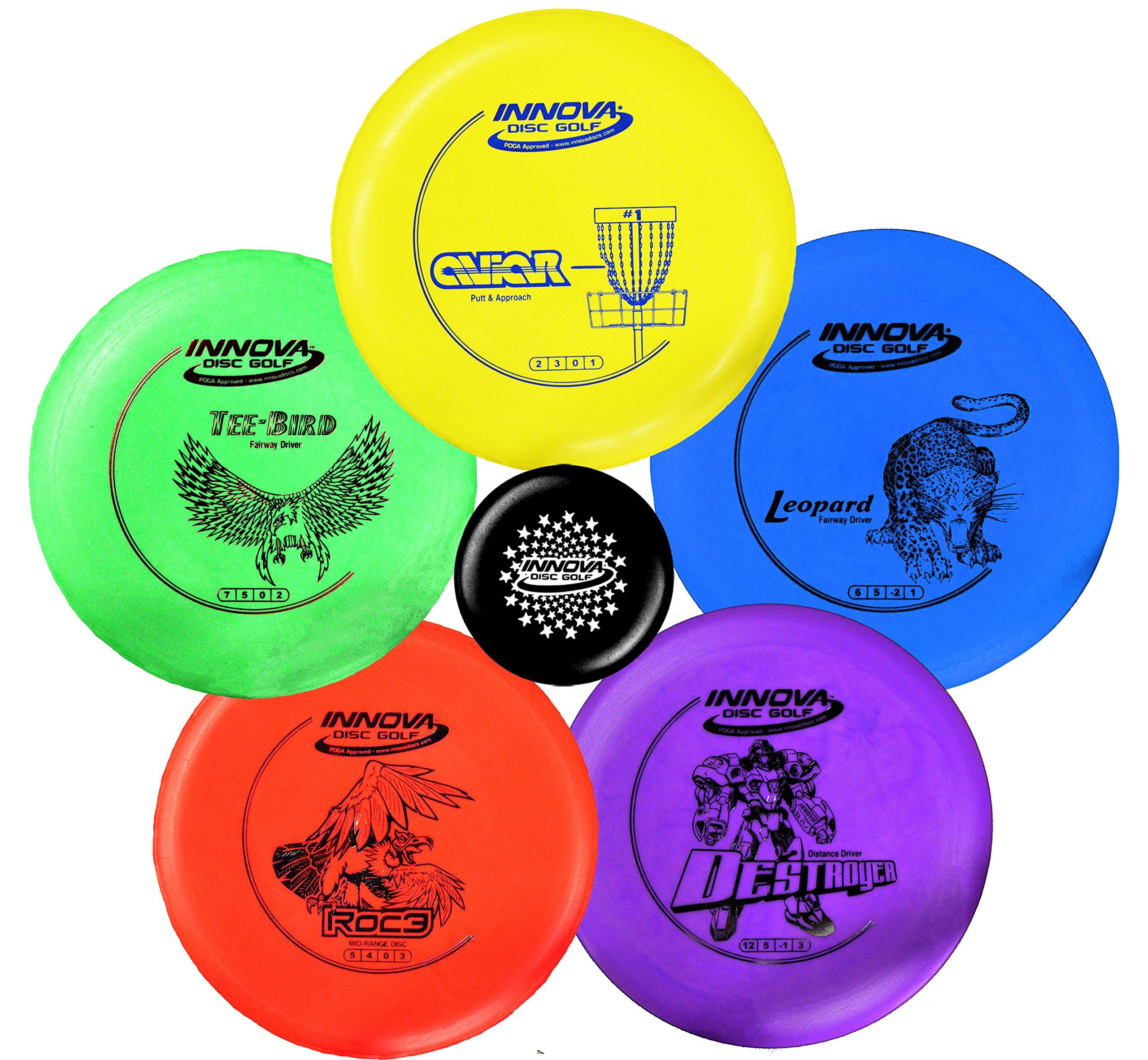 INNOVA Disc Golf Starter Set - Colors May Vary 160-180g - DX Putter, Mid-Range, Driver by INNOVA