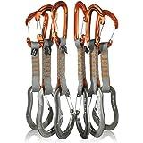 Fusion Climb 6-Pack 11cm Quickdraw Set with Contigua Orange Wire Gate Carabiner/Techno Zoom Gray Wire Gate Carabiner