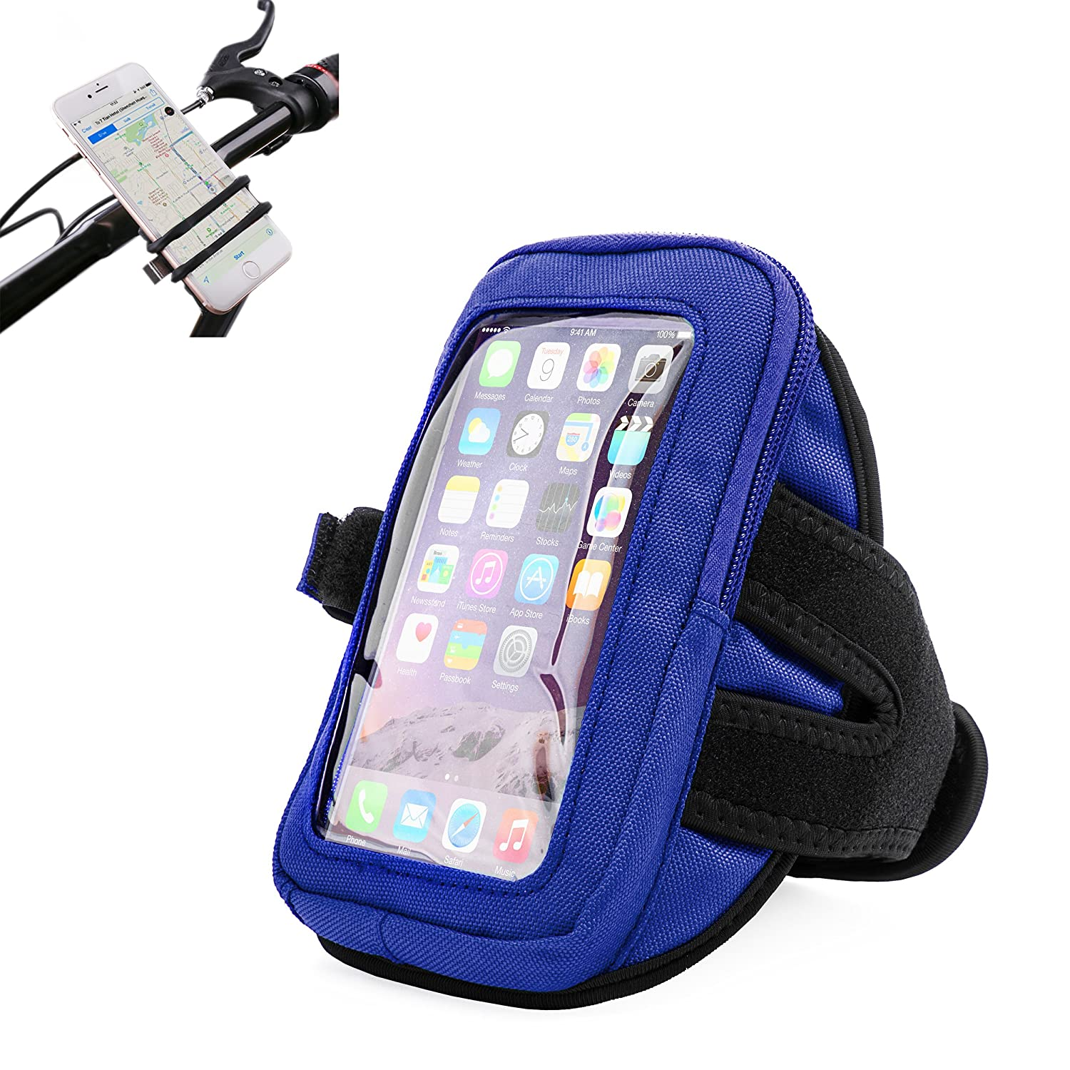 Amazon com: Blue Zippered Sports Arm Band for Huawei Elate 4G 5 5 in