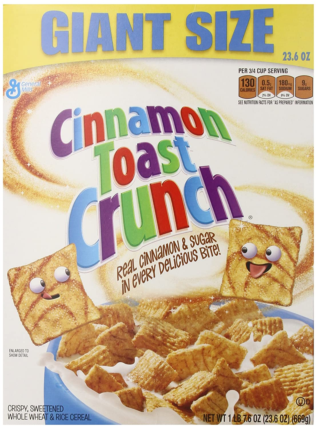 Amazon Com Cinnamon Toast Crunch Cereal 23 6 Ounce Pack Of 2 Grocery Gourmet Food