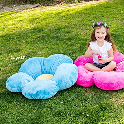 Amazon.com: Girls Flower Floor Pillow Seating Cushion, for a Reading ...