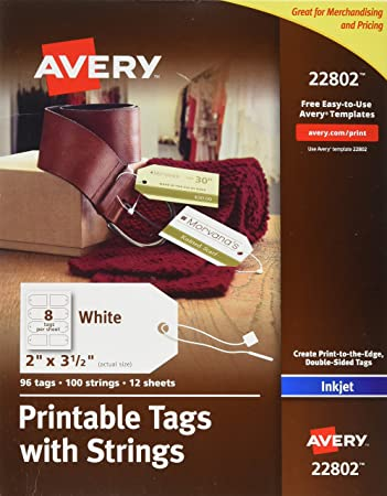 amazon com avery printable tags with strings for inkjet printers 2